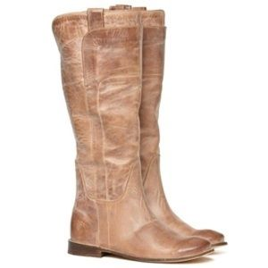 Like New Frye Tan Paige Tall Riding Boots